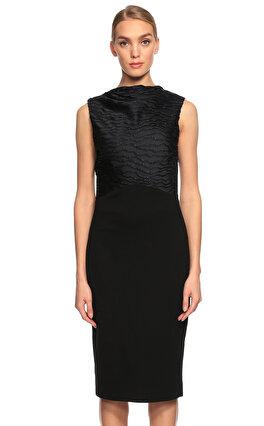 Jason Wu İşleme Detaylı Kolsuz Siyah Elbise