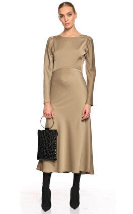 Rivus Midi Haki Elbise