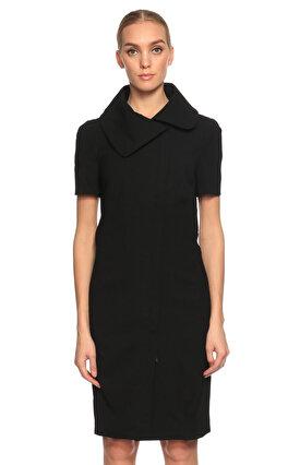 Gianfranco Ferre Yandan Fermuarlı Siyah Elbise