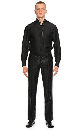 Hatice Gökçe Kareli Siyah Pantolon