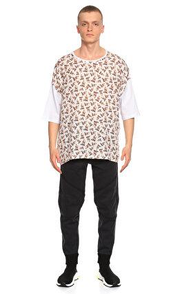Fırat Neziroğlu Baskılı Beyaz T-Shirt