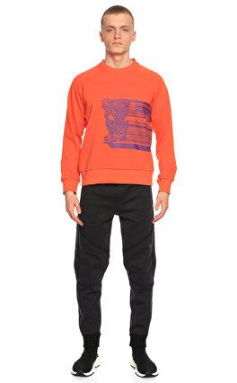 St. Nian Baskılı Turuncu Sweatshirt