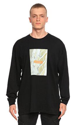 Les Benjamins Baskı Desen Siyah Sweatshirt