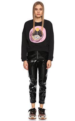 Be Mine Desenli Siyah Sweatshirt