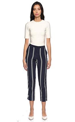 Juicy Couture Çizgili Kısa Lacivert Pantolon