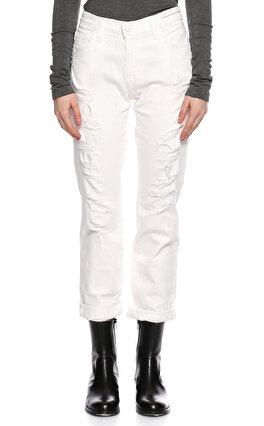 Current Elliot Yamalı Beyaz Jean Pantolon
