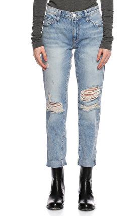 Current Elliot Yamalı Mavi Jean Pantolon