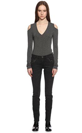 Current Elliot İşleme Detaylı Siyah Jean Pantolon
