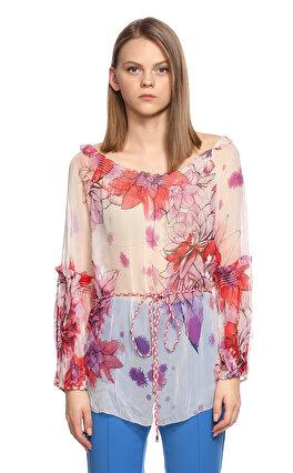 Elie Tahari Çiçek Desenli Renkli Tunik