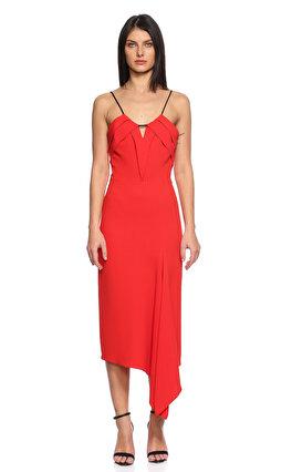 Roland Mouret Midi Kırmızı Elbise