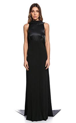 Gianfranco Ferre Uzun Siyah Gece Elbise