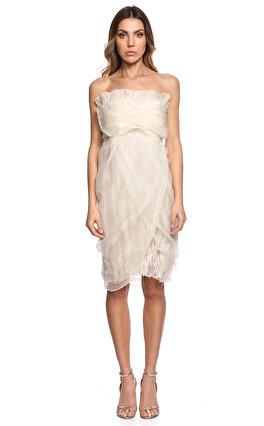 Gianfranco Ferre Straplez Beyaz Elbise
