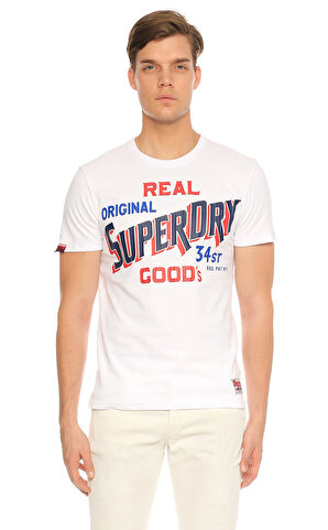 Superdry  Baskılı Beyaz T-Shirt