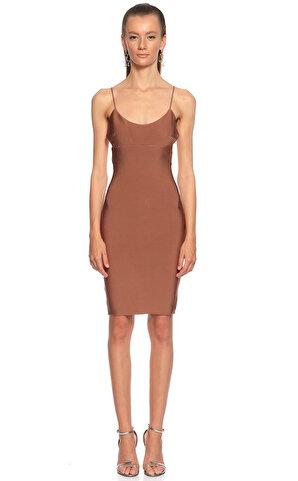 Misha  Diz Üstü Kahverengi Elbise
