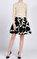 DKNY Desenli Mini Balon Siyah Beyaz Etek #2