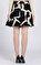 DKNY Desenli Mini Balon Siyah Beyaz Etek #5