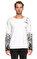 St. Nian Baskı Desen Uzun Kollu Beyaz T-Shirt #1