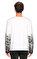 St. Nian Baskı Desen Uzun Kollu Beyaz T-Shirt #5