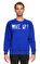 St. Nian Baskı Desen Lacivert Sweatshirt #1