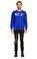 St. Nian Baskı Desen Lacivert Sweatshirt #2