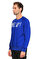 St. Nian Baskı Desen Lacivert Sweatshirt #4