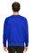 St. Nian Baskı Desen Lacivert Sweatshirt #5