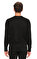 St. Nian Baskı Desen Siyah Sweatshirt #5