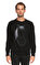 St. Nian Baskı Desen Siyah Sweatshirt #1
