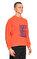 St. Nian Baskılı Turuncu Sweatshirt #4