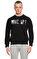 St. Nian Baskı Desen Siyah Sweatshirt #3