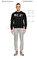 St. Nian Baskı Desen Siyah Sweatshirt #7
