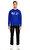 St. Nian Baskı Desen Mavi Sweatshirt