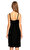 Kleris Strumza Kadife Mini Siyah Elbise