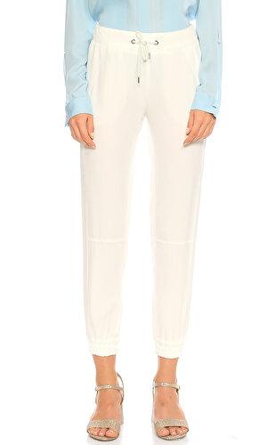 Ikks Paça Detaylı Beyaz Pantolon