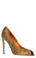 Rene Caovilla Sarı Gece Ayakkabısı