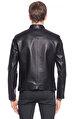 St. Nian Yandan Fermuarlı Siyah  Ceket