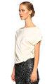 Nisse Pul Payet Detaylı Siyah Beyaz Elbise