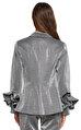 Recep Demiray Fırfır Detaylı Gümüş Rengi Ceket