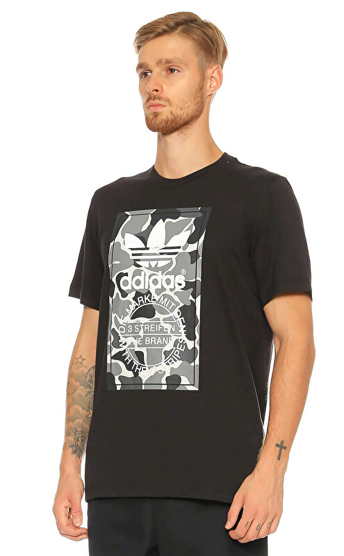 Adidas Originals Baskı Desen Siyah T-Shirt