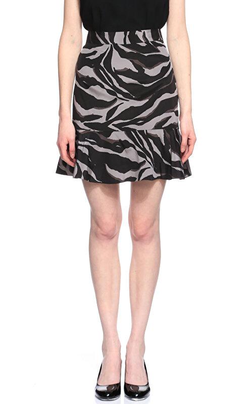 DKNY Zebra Desen Siyah-Gri Etek