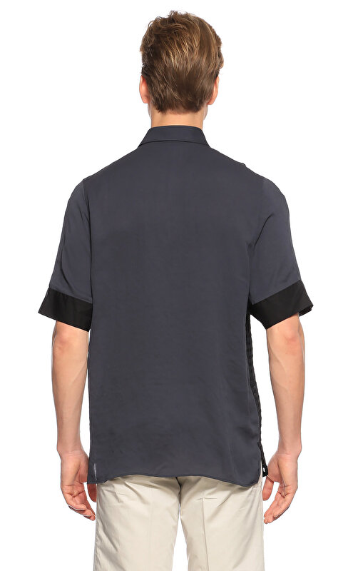 Lanvin File Desen Siyah Gömlek