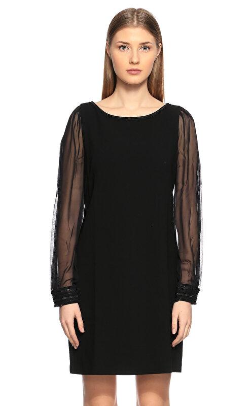 Elie Tahari Siyah Mini Elbise